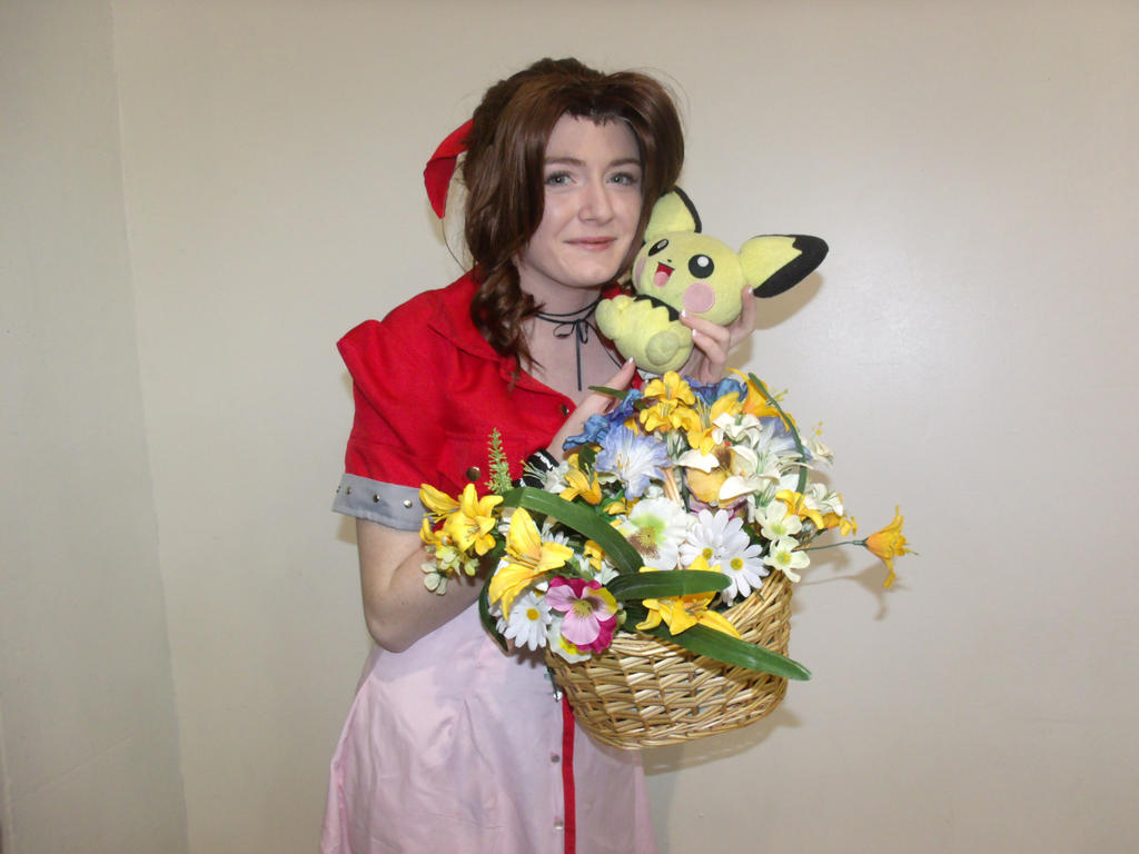 Aerith and Pichu by Moogleborg