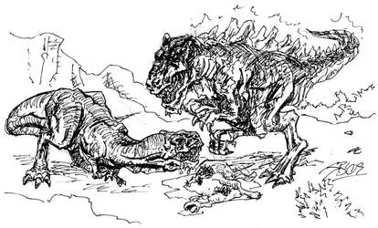 Godzilla Vs. Satanus by JakarNilson