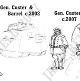 191 Custer sketches evolution by JakarNilson