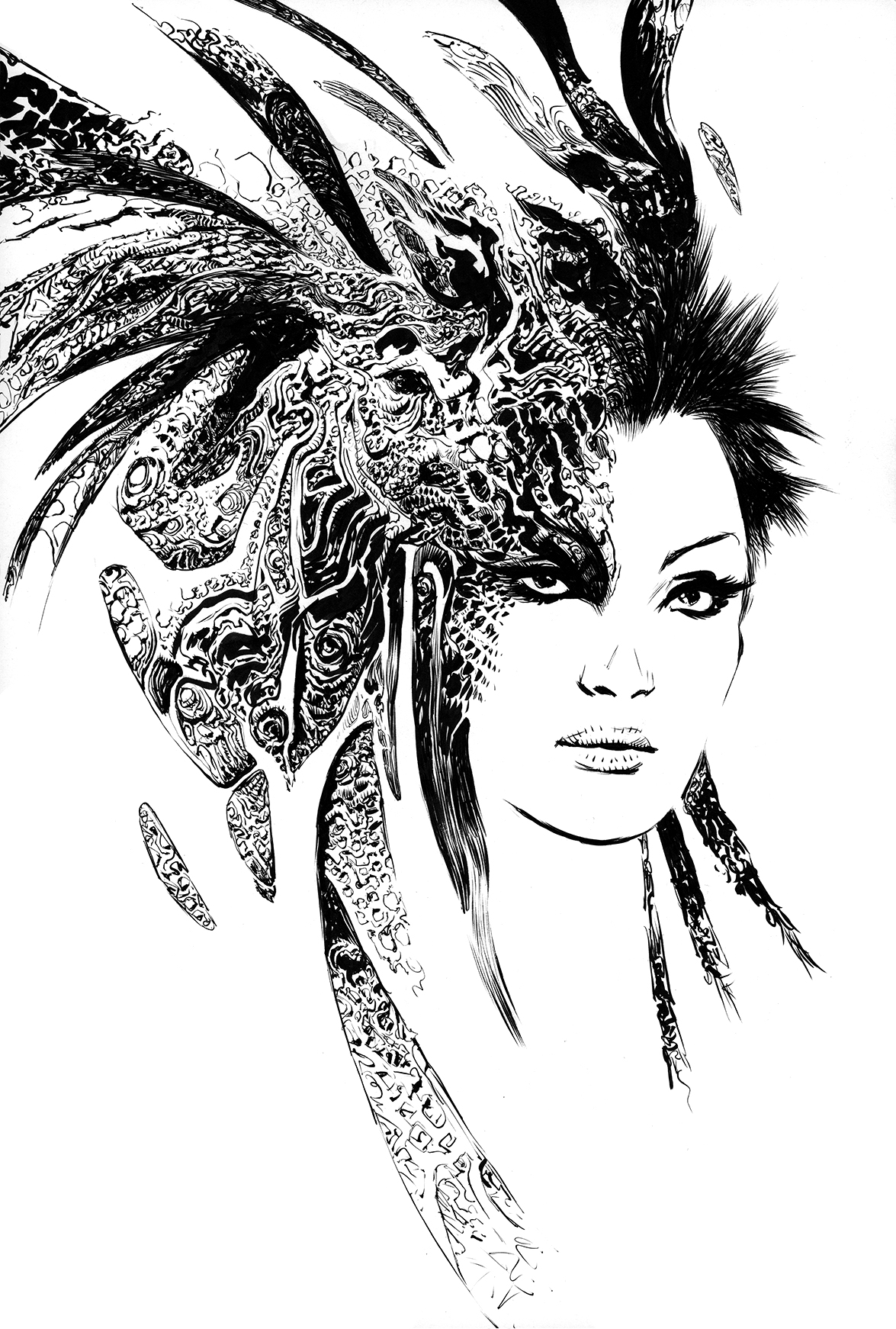INK Sketch 02 by Nisachar