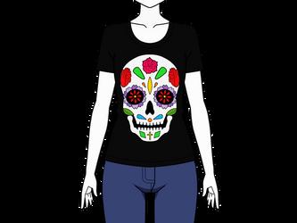Mexican Skull T-shirt .:EXPORT:. by Noemi-Tanaka53