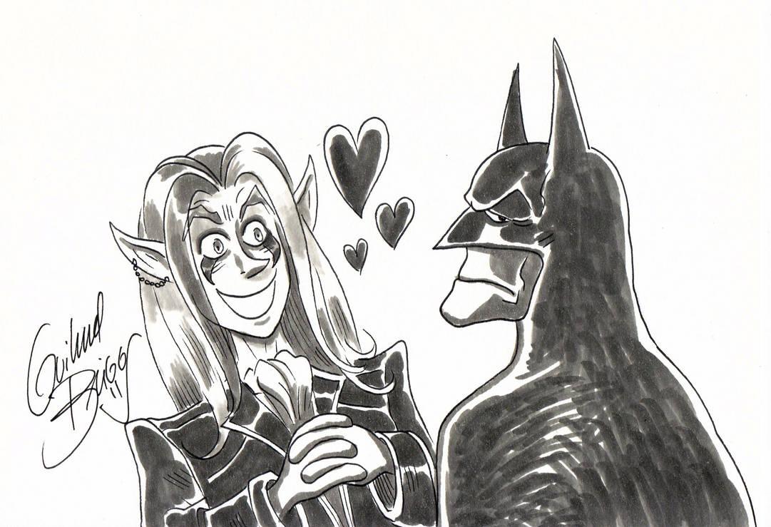 Batman e Domi (Mercenarios) by GuilhermeBriggs
