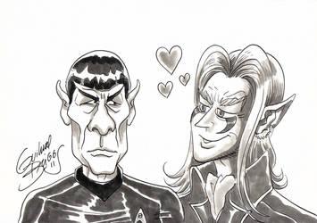 Spock e Domi (Mercenarios) by GuilhermeBriggs