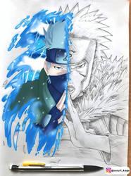 KAKASHI VS TOBIRAMA - WATER STYLE BRAWL
