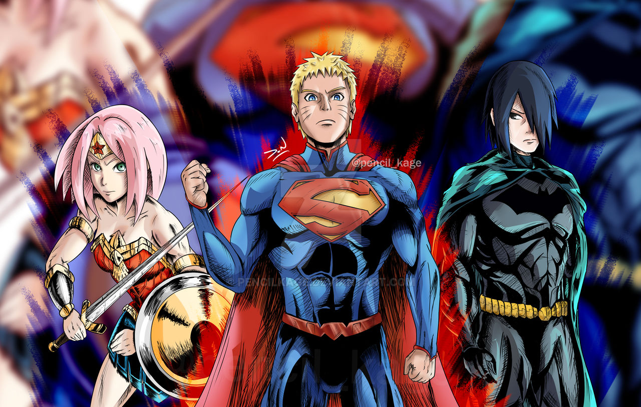 Naruto Characters Re Imagined As Dc Superheroes By Pencilkage On Deviantart