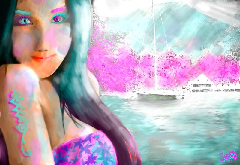 Japanese Girl Portrait by Dream-Bunker