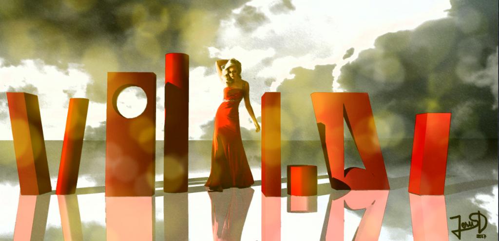 Mujer Volumenes Rojos by Dream-Bunker