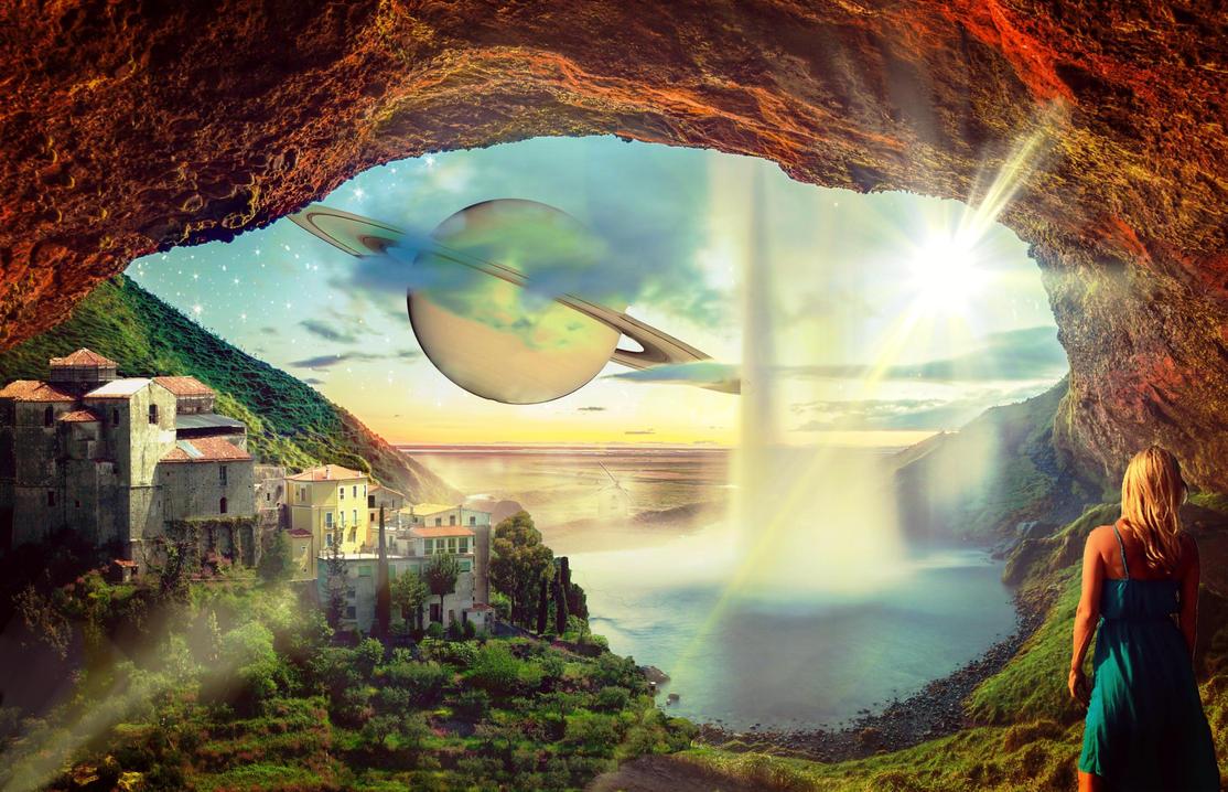 Fantasy Town Sky by Dream-Bunker