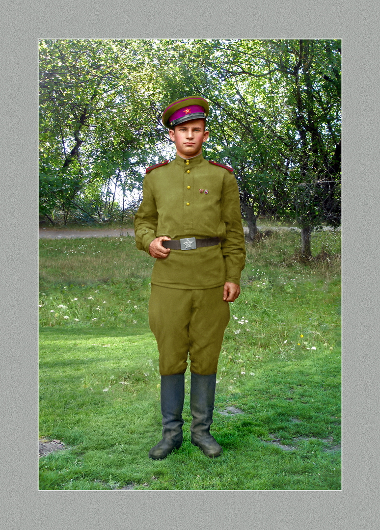 Andrei in 1950. Colorized. by anyword