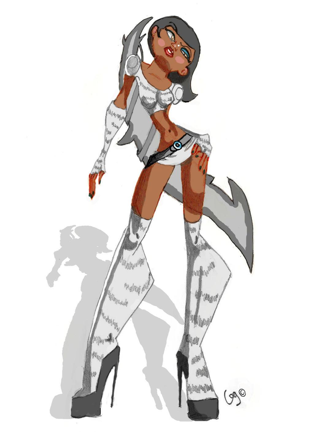 Warrior Wolf Girl by G...