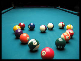 Love is like a game of pool