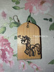 Applejack Wooden Keychain by FairyAlpaca