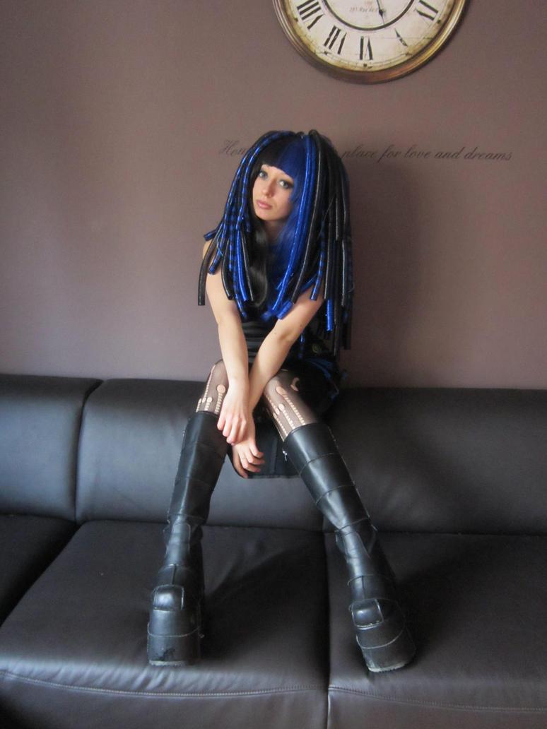 Robotic Blue by Kawaii-x-Stock