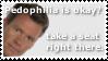 KR Stamp: Never talk about pedophilia being okay by zirukurt01