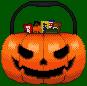 Halloween Candy Bucket Pixel Art by zirukurt01
