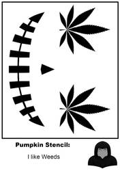 Halloween Stencil: Hallo-Weed by zirukurt01