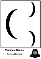 Halloween Stencil: Smiling Jester by zirukurt01