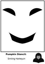 Halloween Stencil: Smiling Jester Narrow by zirukurt01