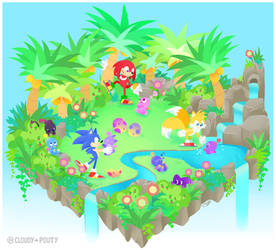 Chao Garden - Normal/Hero(?) by cloudypouty