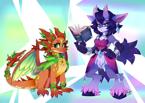 Cynder and Elora [Parallel Timeline?]