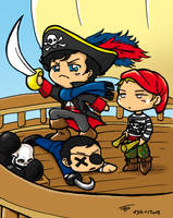 Chibi Pirate Sherlock by Eirieniel