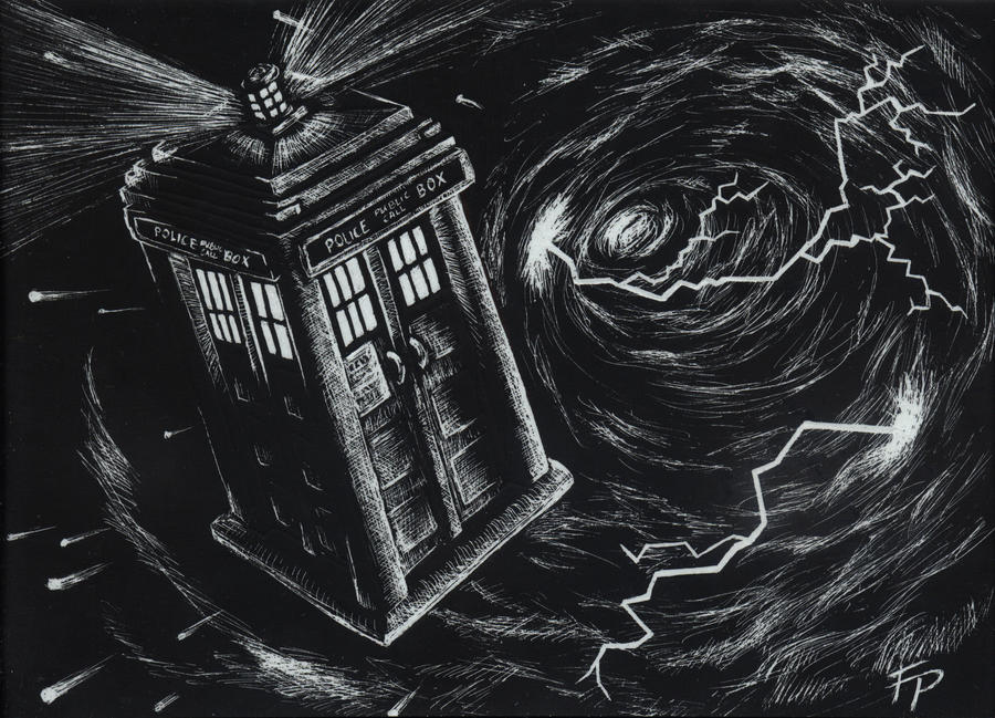 http://eirieniel.deviantart.com/art/The-TARDIS-traversing-the-time-vortex-569628956