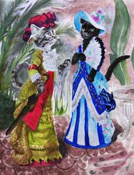 Cats who walk like Ladies