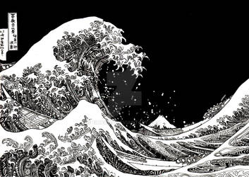 Hokusai in ink