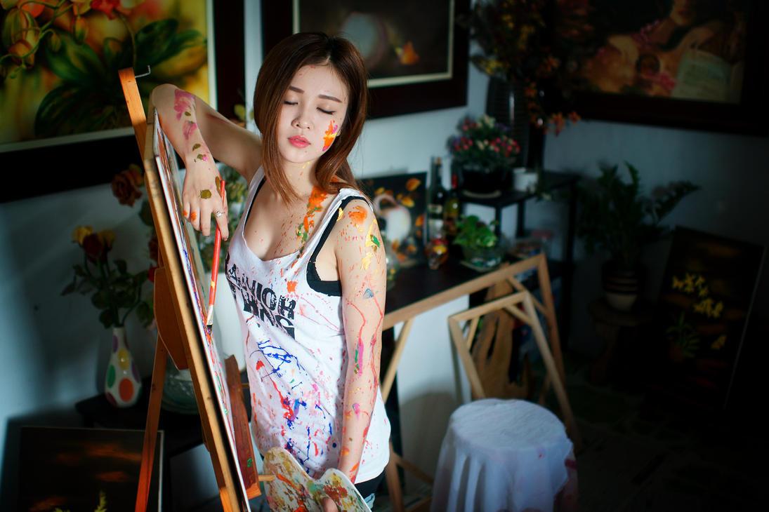 Girl Paint by lexthai