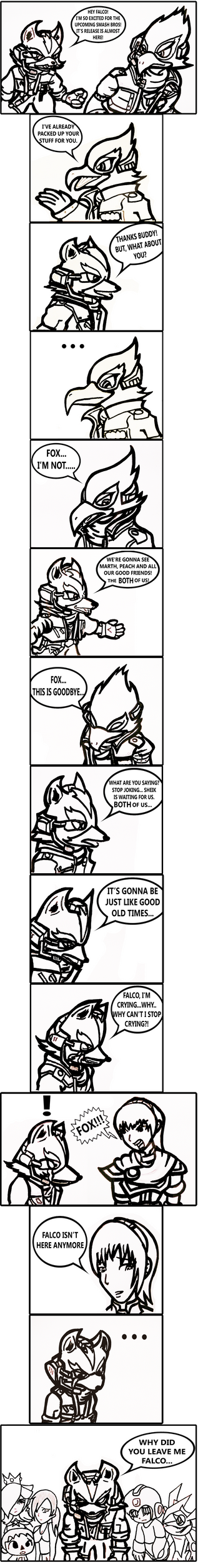 Goodbye Falco (SSB4 What if) by PichuThePokemon