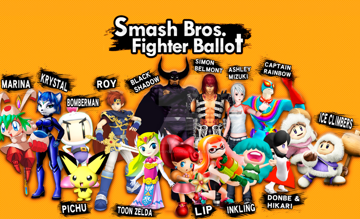 Smash Fighter Ballot My Votes! by PichuThePokemon