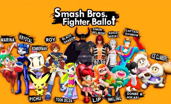 Smash Fighter Ballot: My Votes!