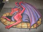 Chalk Art - First attempt at 3D chalk art