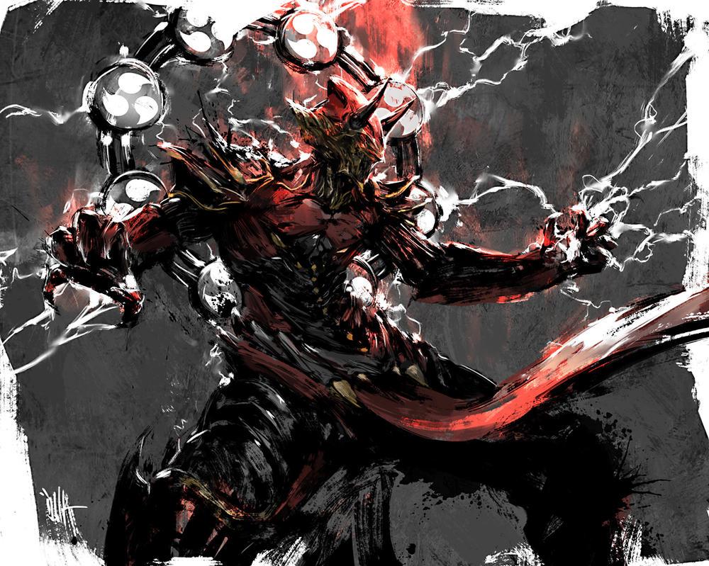 Demonic Deity Concept Art