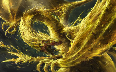 Smaug the Golden by ijur