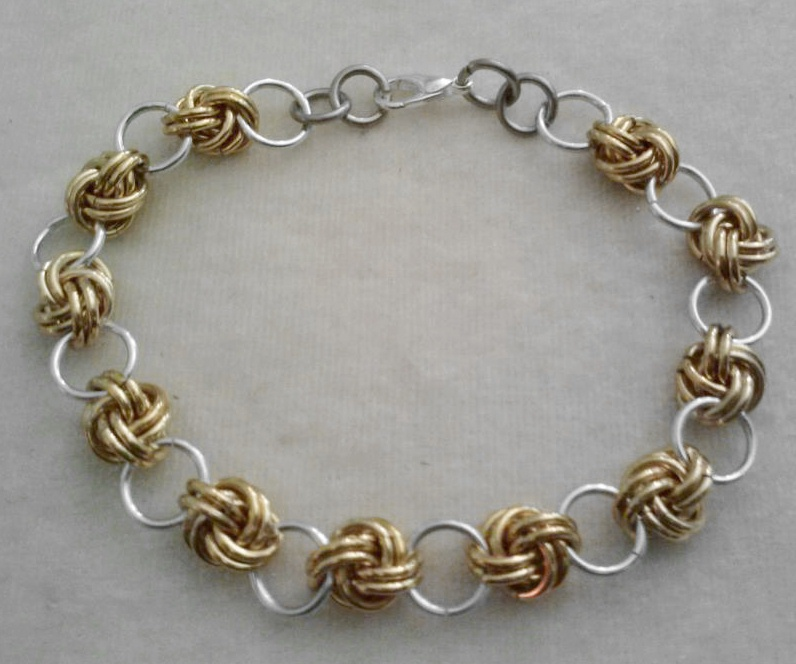 Make A Chain Mail Bracelet: Love Knot Chain Maille Chainmail Bracelet By