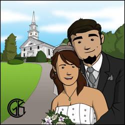 Gabe and Karen - Wedding Day by JackAbsinth