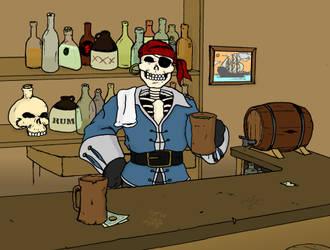 Peg-Leg Pete - Pirate Pub by JackAbsinth