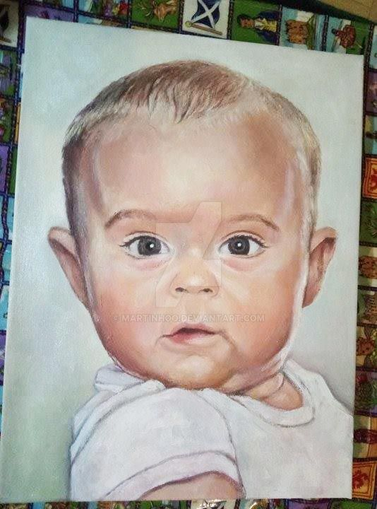 Portrait of a child by Martinhoo