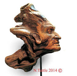Wood Sculpture by psychosculptor