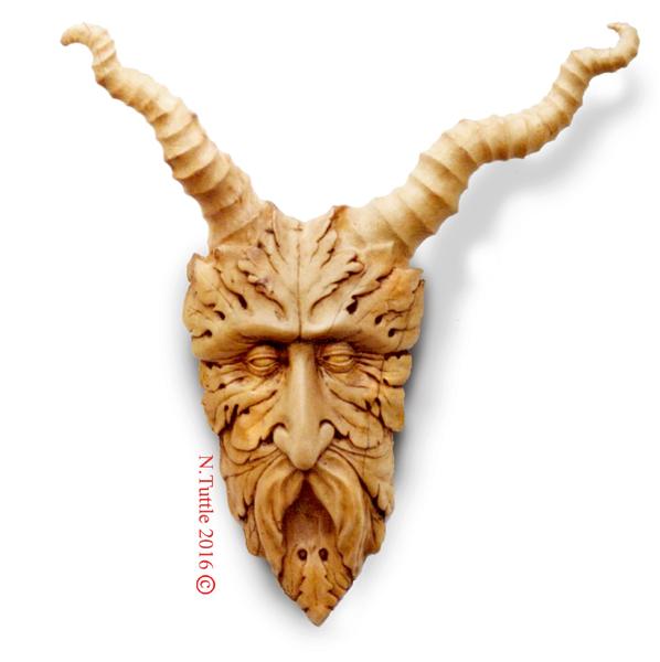 Horny Greenman by psychosculptor
