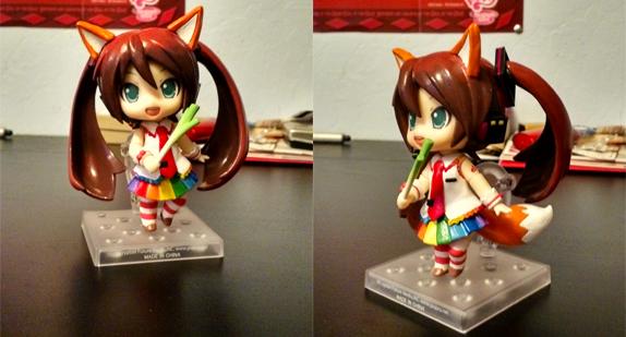 Fabulous Fox Miku Nendoroid by NoxxBunny
