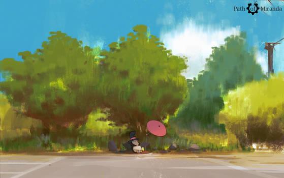 Toki Resting under tree