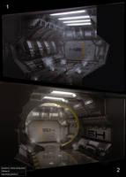 Hallway conceptart by snatti89