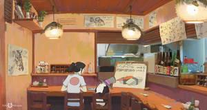 At the sushi bar Path of Miranda #3