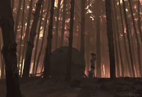 215/365 Path of Miranda_forbidden forest by snatti89
