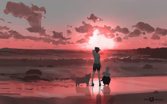 344/365 Path of Miranda_sunset