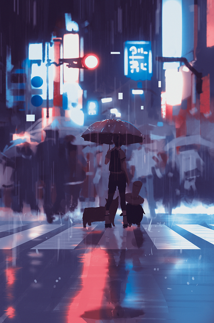 neon rain by snatti89 on deviantart