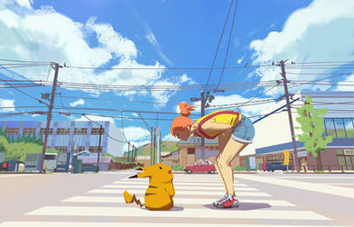 Misty and Pikachu by snatti89