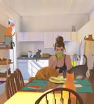 Cat lady by snatti89